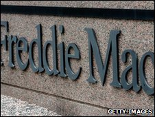 A Freddie Mac sign in front of its HQ in McClean, Virginia (archive image)
