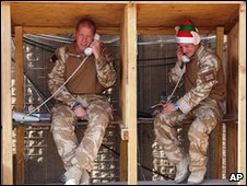 Grenadier Guards in Camp Bastion on 25 December