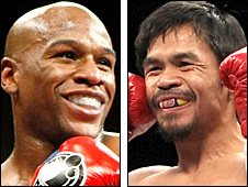 Floyd Mayweather Jr and Manny Pacquaio