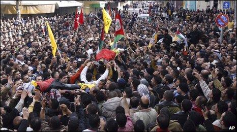 The funeral of Fatah activists in Nablus, 26 Dec