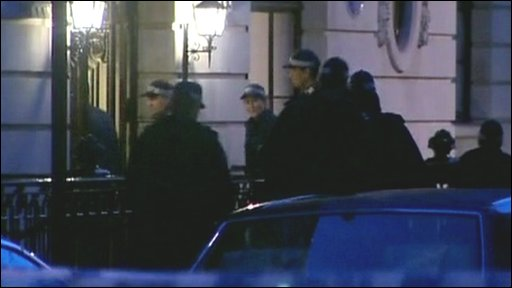 Police outside a property in London