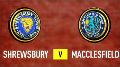Shrewsbury 2-2 Macclesfield