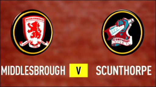 Middlesbrough v Scunthorpe
