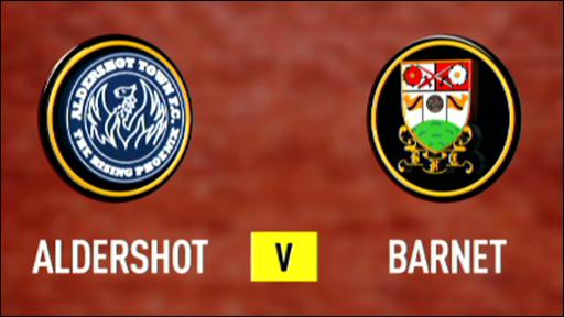 Aldershot 4-0 Barnet