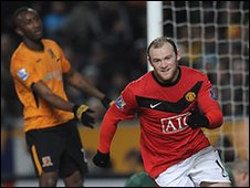Wayne Rooney led United to victory