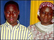 Umar Farouk Abdulmutallab with his mother (file image)