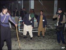 Scene of blast in Muzaffarabad