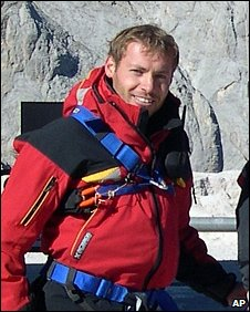 Rescuer and avalanche victim Alessando Dantone