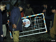 Scene of blast in Muzaffarabad