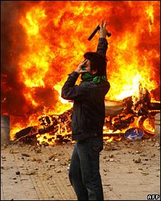 Protester in Tehran (27 December 2009)