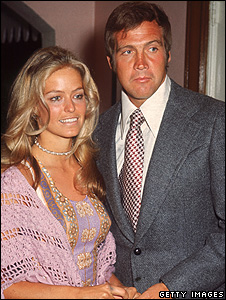 Farrah Fawcett and husband Lee Majors