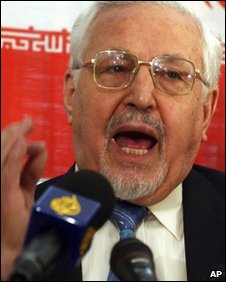 Ebrahim Yazdi, pictured in March 2005