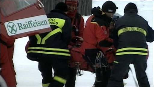 Rescuers in the Alps