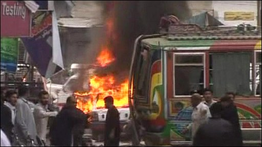 Scene of bomb blast