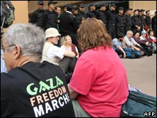 Gaza marchers in Cairo
