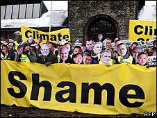 Climate protesters (Image: AFP)