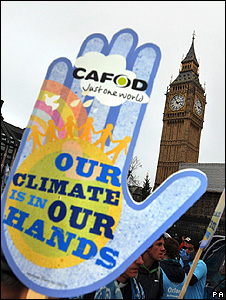 Climate march in London (Image: PA)
