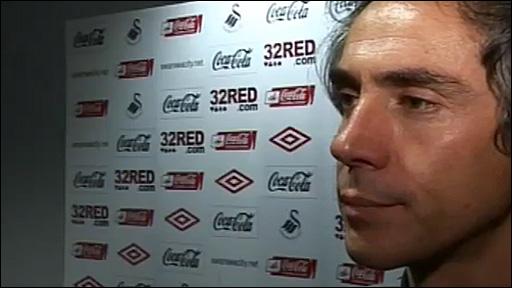 Swansea City boss Paulo Sousa