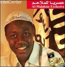 Image made available by IntelCenter and taken from a website frequently used by militants purports to show Nigerian US bomb plot accused Umar Farouk Abdulmutallab