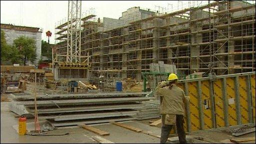 German construction site