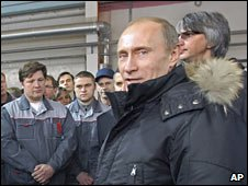 Russian Prime Minister Vladimir Putin in Vladivostok. Photo: 29 December 2009