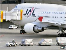 Japan Airlines aircraft on the tarmac
