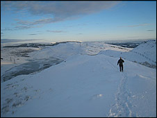Man walking in the Old Kilpatrick hills (Pic by Paul Darroch)