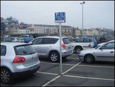 Car parking spaces at North Beach