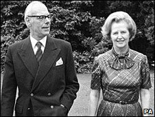 Denis and Margaret Thatcher in 1979