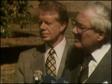 James Callaghan and Jimmy Carter in Guadeloupe in January 1979