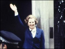 Margeret Thatcher enters Number Ten on 4 May 1979
