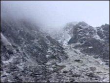 Cloud amid Snowdonia peaks