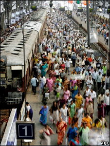 Railway station in Mumbai