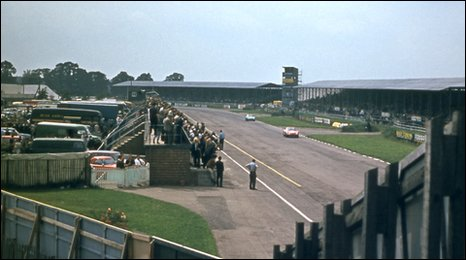 A picture of the Silverstone circuit in the 60s