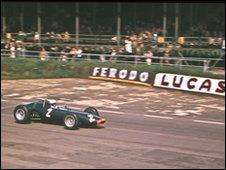 Richie Ginther BRM Woodcote Silverstone July 1963.