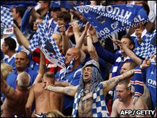 Portsmouth fans at the FA Cup final in 2008