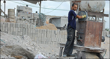 Brick factory, northern Gaza
