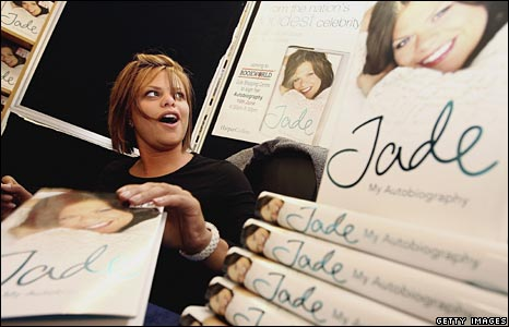 Jade signs her book