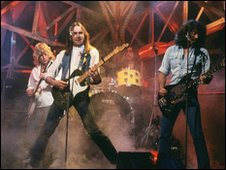 Status Quo on Top of the Pops in 1980