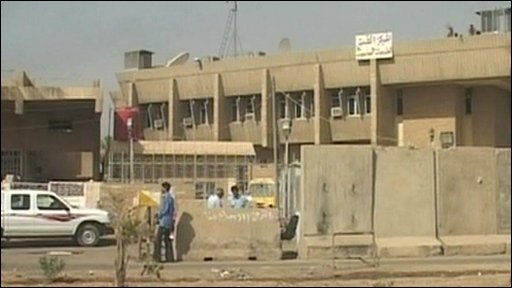 The finance ministry in Baghdad where the 5 men were seized in 2007