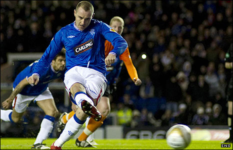 Kris Boyd opens the scoring from the penalty spot