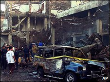 Scene of Bali bomb attack in 2005
