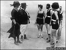 Women in bathing suits in the 1920s