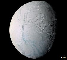 Saturn's icy moon, Enceladus (SPL)