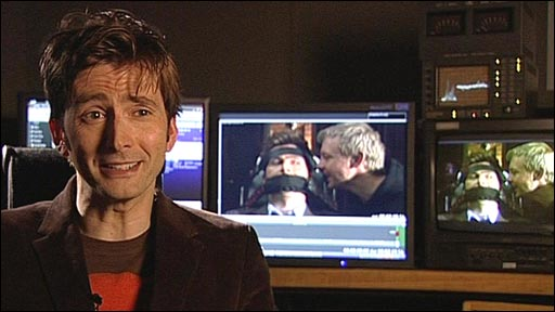David Tennant on his last outing as Doctor Who