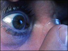 Contact lens, Corbis