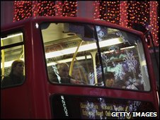 Passengers on London bus
