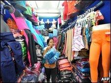 A vendor in Jakarta