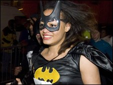 Bat Girl competitor in Nos Galan race