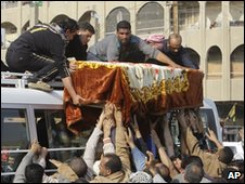 Funeral procession for a bombing victim in Baghdad, 24 Dec